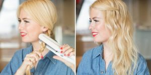 Hair Straightener for Intensify beach waves